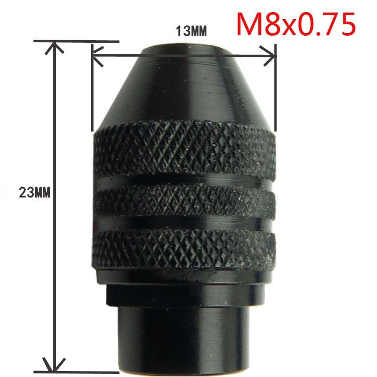 M8x0.75mm Multi Chuck Keyless for Dremel Rotary Tools 0.3-3.2MM Faster Bit Swaps New QSTEXPRess multi chuck keyless for fits dremel rotary tools 0 5 3 2mm faster bit swaps