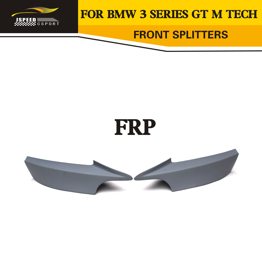 FRP Unpainted Primer Splitter front bumper lip For BMW F34 3 Series GT M Sport Bumper Only 2013UP