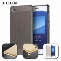TUKE Luxury Aluminum Mirror frame For Lenovo ZUK Z2  PC Back Cover + TPU case