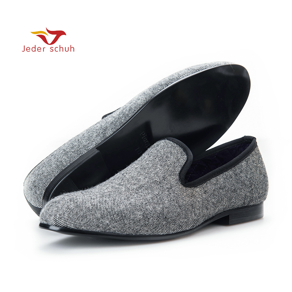 цены Jeder Schuh Classic Handmade Tweed in interwoven grey and black men loafers Britain style men Casual shoes traditional men flats