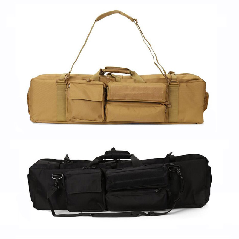 цена High Quality 1000D Nylon Tactical Gun Bag Outdoor Sports Carrying Shoulder Gun Bag Military Airsoft Combat Shooting Hunting Bag