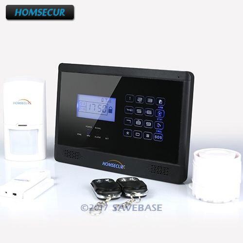 HOMSECUR (Espanol/Deutsch/Francais/Anglais Voix) Accueil Sécurité Sans Fil GSM Autodial Cambrioleur Alarme Anti-Intrusion Système