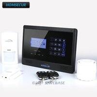 Homsur (Espanol/Deutsch/Francais/Английский Голос) Главная Безопасность Беспроводная gsm система с автонабором охранной сигнализации системы YA09