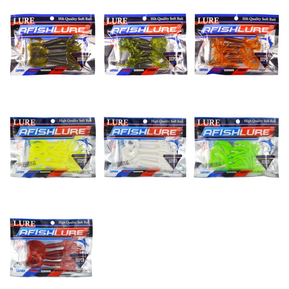 Double Tail Beard Soft Lure Fishing Lure 104mm 5 4g 28pc Soft Bait Bass Bait Panfish