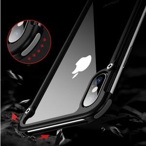 Image 3 - Original Oatsbasf aluminium métal pare chocs étui pour iphone X XS XS MAX XR luxe dur antichoc goutte Protection étui pour iphone 11
