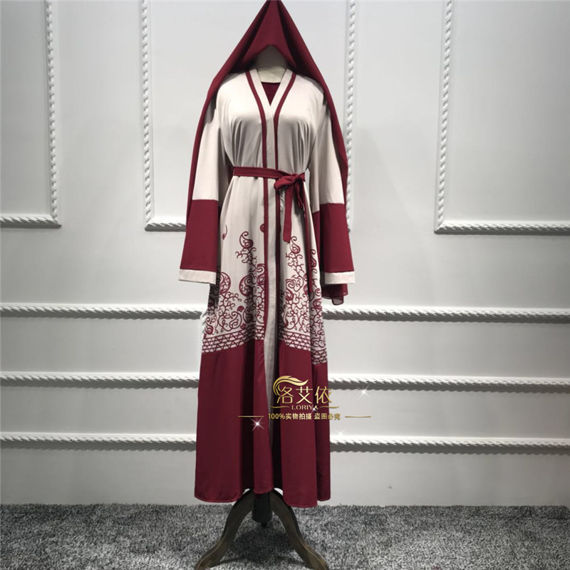 Women Muslim Maxi Dress Middle East Long Robe Halalcitymart