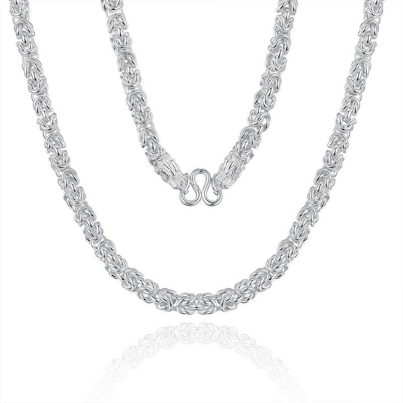 GCZQ Dragonhead Sterling Silver naszyjniki mężczyźni duży oświadczenie 100% litego srebra łańcuch naszyjniki dla mężczyzn głowa smoka biżuterii