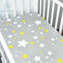 Листы для кроватки, Мягкий тканый хлопковый лист, Постельные принадлежности с унисексным дизайном, Подходит для стандартного матраца для младенцев и малышей