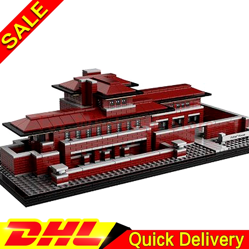 Lepin 17007 2326Pcs Genuine Architecture Series The Robie House Building Blocks Bricks lepins Toys Model Clone 21010 architecture today