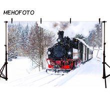 Fotografia Pano de Fundo da Neve do inverno Do Natal Trem Expresso Polar  Pano de Fundo 7685cee1f7