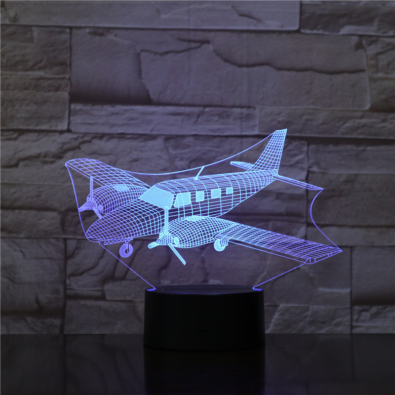 Air Craft Airplane Toy 3D Night Lamp with Touch / Remote Control LED Light Christmas Gifts Kids Hobbies AS1783Air Craft Airplane Toy 3D Night Lamp with Touch / Remote Control LED Light Christmas Gifts Kids Hobbies AS1783