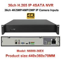 H 265 H 264 1 5U Casing 36CH CCTV NVR 4K 3MP 2MP For 8MP 3MP