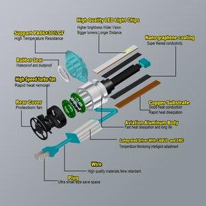 Image 4 - CARLITS H7 LED H4 LED Super Mini H8 H11 9005 H13 881 HB4 H3 H1 led Headlight CSP H9 9006 Fog Light H13 12V 2PCS 12000LM Canbus