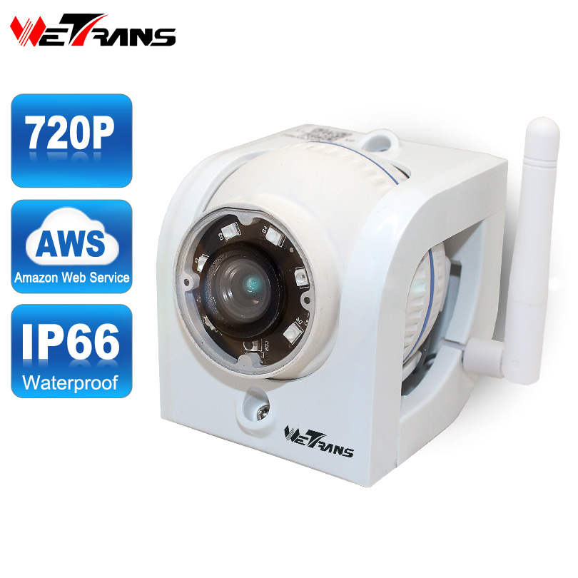 Wetrans Wifi Camera Outdoor 720P HD AWS Cloud Storage P2P 15m IR Night Vision 1.0MP Waterproof Home CCTV Wireless Mini IP Camera et16 intelligente scanner portatile con 34 lingue ocr e wifi connect per czur cloud storage