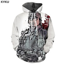 KYKU Brand Rainbow Six Siege Hoodie Men United States Hooded Casual Usa Hoody Anime War Print Military Hoodes 3d Unisex