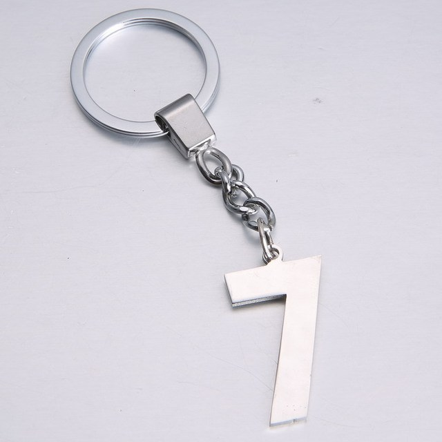 e28fafca9 Numbers Keychains Letters Key Rings Creative Birthday Gift Key Chains  Innovate Souvenir Gadget Key Ring Metal Keyrings Chaveiro