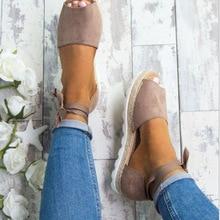 2018 Large Size 35-43 Women canvas Sandals Shoes Woman Summe