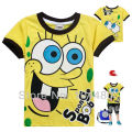 Casual Summer Spongebob Girls T Shirt New Short Sleeve Baby Boys T-shirt Toddler Kids Tops Tees Children Cartoon Clothes