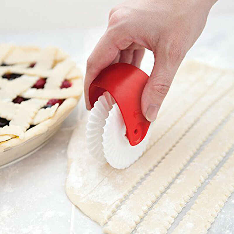 高品質パイピザクッキーカッター菓子プラスチックベーキングツール耐熱皿エンボス生地ローラー格子カッターキッチンクラフト