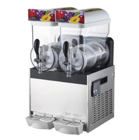 Диспенсер для сока машина для приготовления жидкого мороженого объем 15л * 2 с двойными холодильными цилиндрами