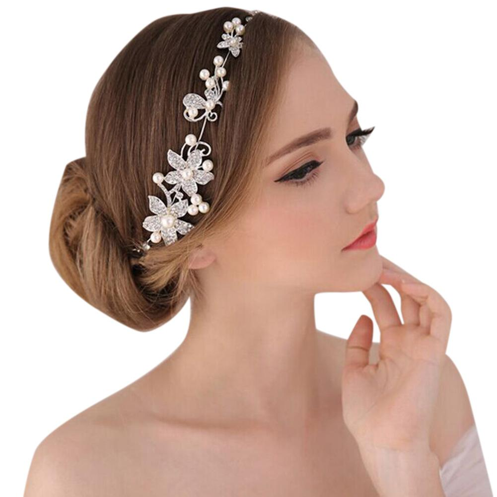 Bridal Jewelry   Headwear   White Flowers Elegant Pearl Rhinestone Stylish Headband for Wedding Party cocktail party SAN0