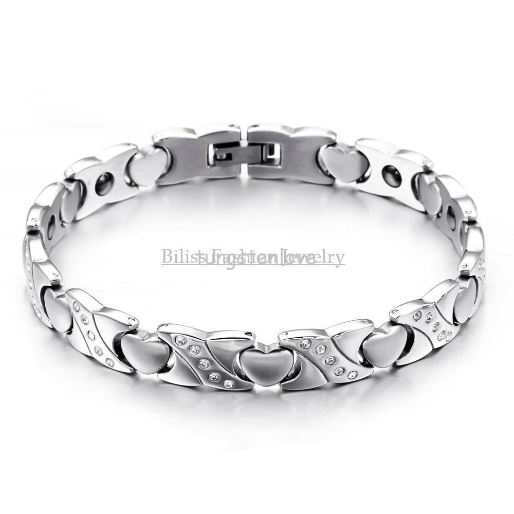 866 Inch New Ladies Jewelry Heart Golf Bracelet Stainless