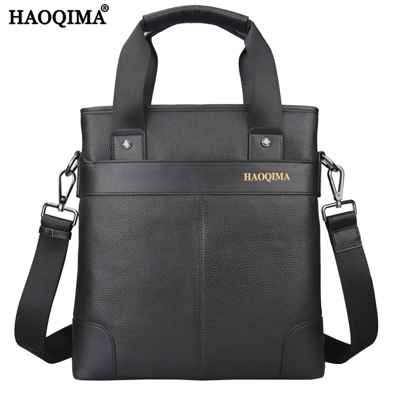 Фотография HAOQIMA Genuine Leather Real Cowhide Men