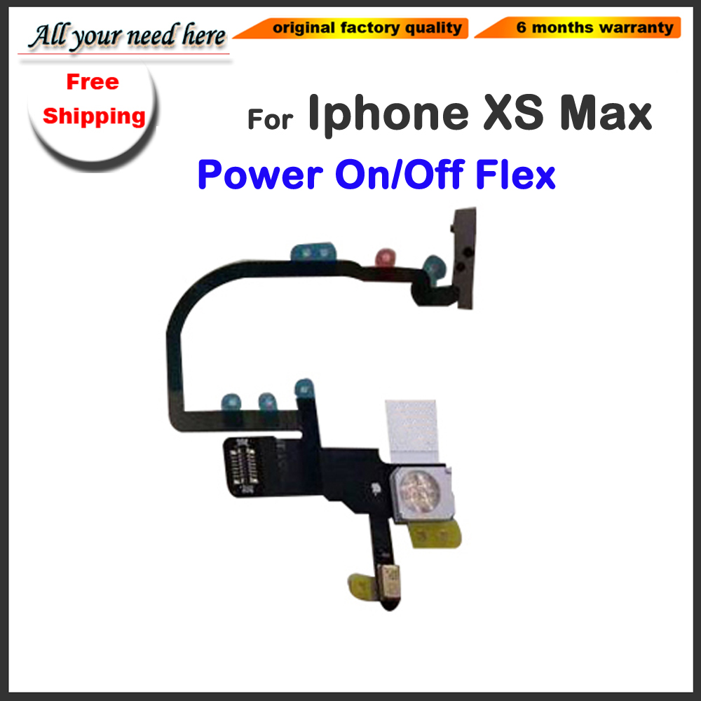 Power on/off Switch Connector On Off Flex Cable Ribbon Mobile Phone Replacement Parts For iphone XS Max