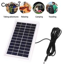 Cewaal 3W 12V Portable polycrystalline silicon Solar Panel Epoxy Battery Charger Cell Charging DIY Module with White Frame
