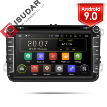 Isudar 2 Din Auto Radio Android 9 Per VW/Golf/Tiguan/Skoda/Fabia/Rapid/ sedile/Leon Auto Multimedia Video Player di Navigazione GPS DVR