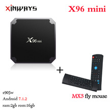 Xinways X96 mini Android 7.1 Smart TV BOX 2GB 16GB Amalogic S905W Quad Core 4K 30TPS WiFi 2.4GHz X96mini caseta de tv Android