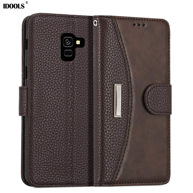 new style e2cbb f9f88 US $10.98 |LOKAKA Flip Case For Samsung galaxy A8 Plus 2018 Luxury Wallet  PU Leather Mobile Phone Bags For Samsung A8 Plus A730 Cases Cover-in Fitted  ...