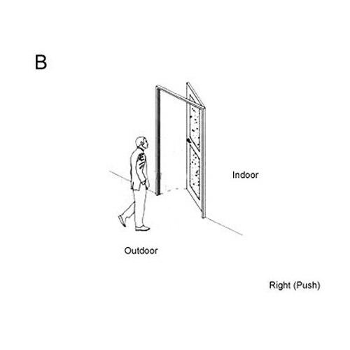 RF карты цифровой дверной замок автоматический замок для гостиницы A03 - Цвет: B right inside