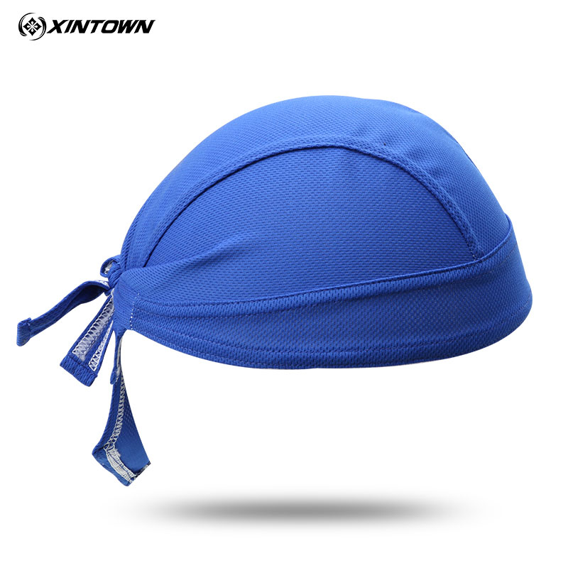 Hot Blue Women Men Bike Hat Ciclismo Cycling Helmet Cap Bicycle Head Scarf MTB Racing Pi ...
