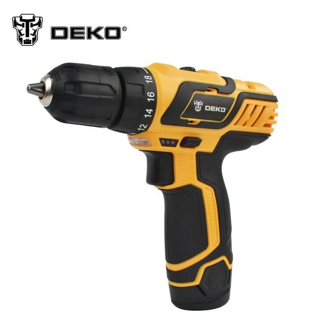 DEKO 10.8 V Ménage Perceuse sans fil Au Lithium/Li-ion batterie perceuse électrique