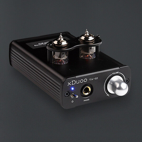 xDuoo TA-02 6J1x 2 Stereo Vacuum Tube Headphone Amplifier Class A Buffer amp original xduoo ta 20 high performance balanced tube headphone amplifier power amplifier