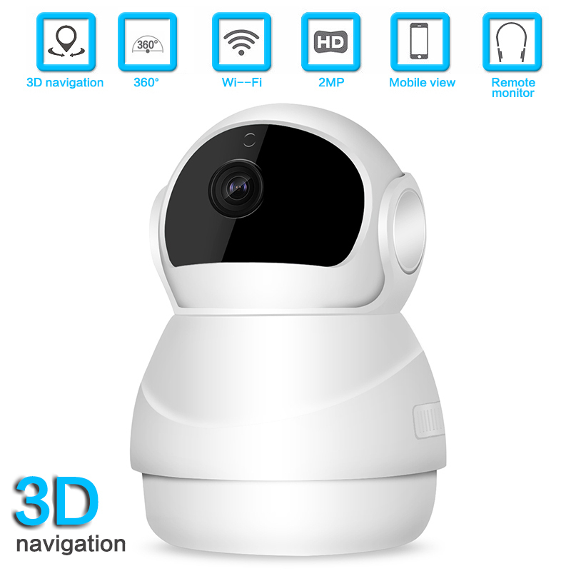 1080P IP Camera 360 Degree Panoramic Wifi Fisheye Night Vision Two Way Audio Surveillance Camera Baby