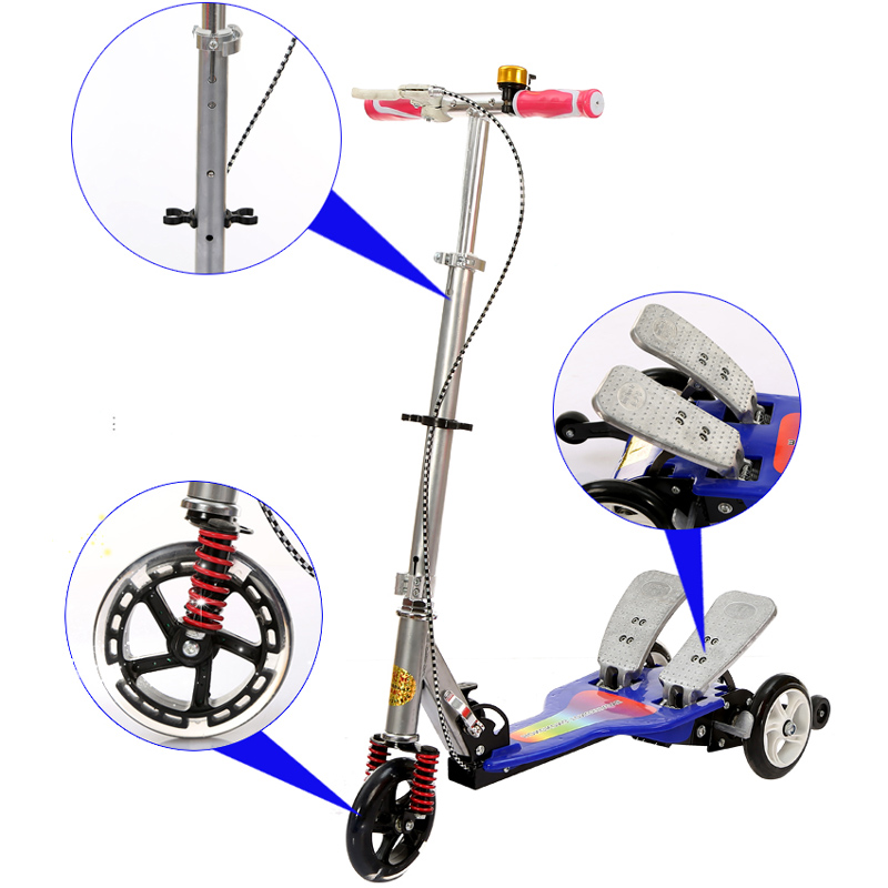 Easy Ride Shining Wheel 2 Pedal Scooter Dual Pedal Scooter Light Wheel Double Pedal Scoo ...