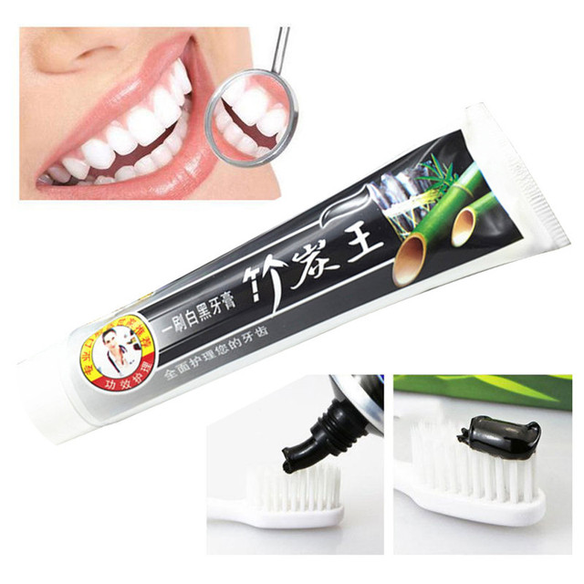 105g New Natural Toothpaste Bamboo Charcoal Black Whitening