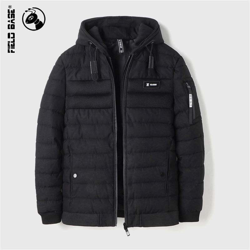 Field Base Winter Jacket Men Thicken Warm Parkas Casual Cotton Jackets Male Hooded Winter Coats Outerwear Solid Color YCC-8850 casual 2016 winter jacket for boys warm jackets coats outerwears thick hooded down cotton jackets for children boy winter parkas