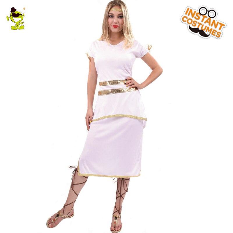 Adult's Spartan Queen Costume Women's Halter Halloween Party Fancy Dress  Costumes