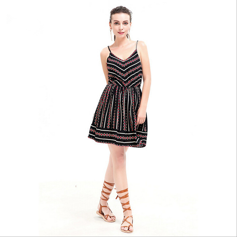 e003160c1c new 2017 Summer fashion restoring ancient ways women s dress Amazon sexy  condole printed sleeveless v neck dress plus size-in Dresses from Women s  Clothing ...