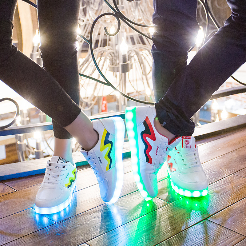 Size 35-44 USB Charge Glowing Led Shoes Luminous Sneakers with Light Sole for Kids Big Boys Girls Children Basket Enfant