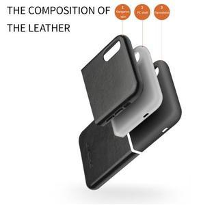 Image 3 - QIALINO funda de teléfono de cuero genuino medio envuelto para Apple iPhone X/XS/XR, cubierta trasera hecha a mano ultrafina de lujo para iPhone XS Max