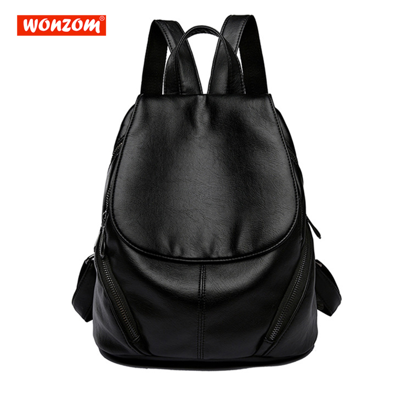 цена на WONZOM Women Cost-effective Backpack Vintage Bags for Teenagers Casual Rucksack Daypack College Student School Backpack