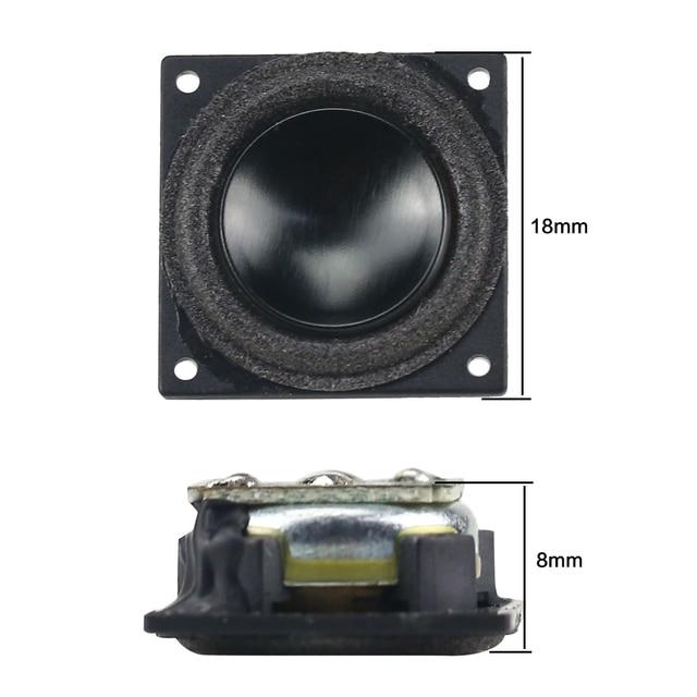 GHXAMP 18mm Mini Full Range Speaker Bluetooth Speaker DIY 4Ohm 2W  Boombox Radio Computer Tweeter MId Bass Loudspeaker 18*18mm 6