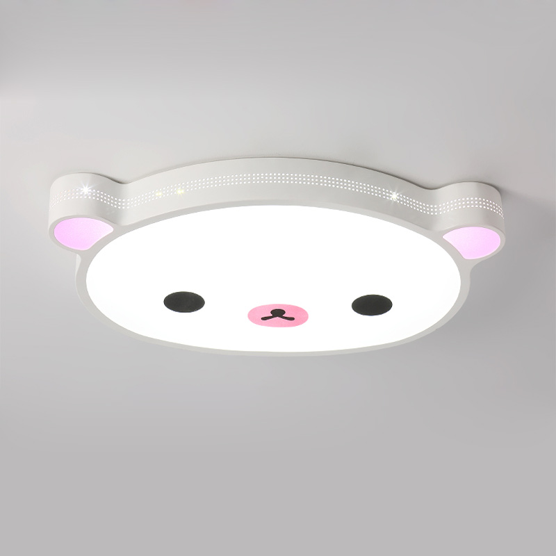 Kids 24W Led Ceiling Light With Remote Control Fixtures Modern Living Room Bedroom Room Lamp Decor Home Lighting Bear Iron 220V