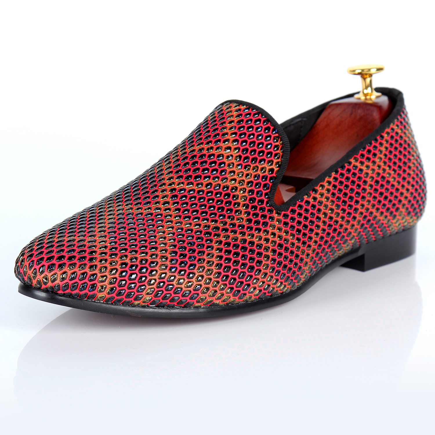 Harpelunde Men Polka Dot Shoes Slip On Dress Loafers Luxury Flats Size 10