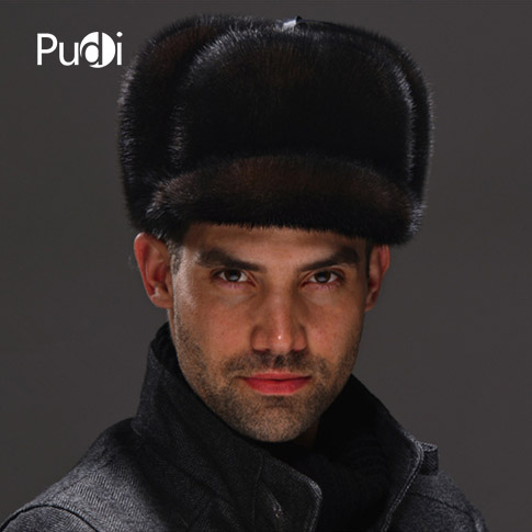 HM039 Real genuine mink hat winter Russian men's warm caps whole piece mink fur hats hm039 real genuine mink hat winter russian men s warm caps whole piece mink fur hats