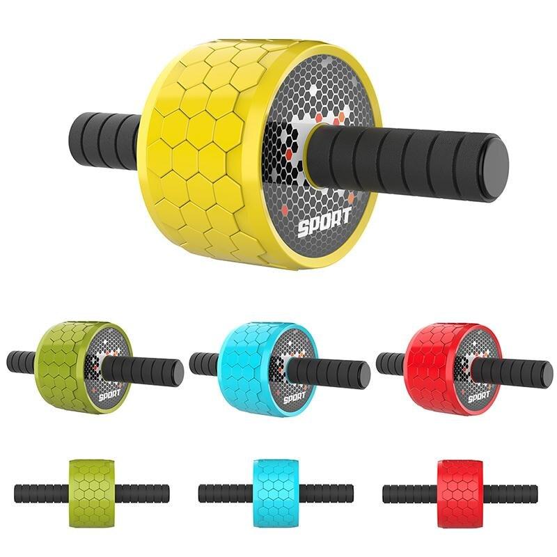 Nouveau garder les roues en forme pas de bruit roue abdominale Ab rouleau avec tapis pour équipement de Fitness d'exercice